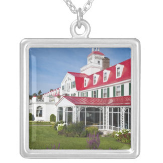 Quebec, Canada. Historic Hotel Tadoussac, 2 Silver Plated Necklace