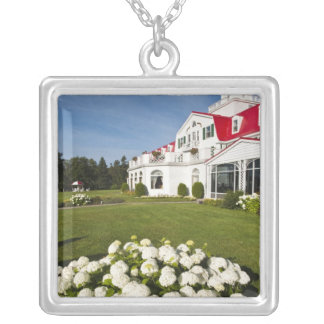 Quebec, Canada. Historic Hotel Tadoussac, 3 Silver Plated Necklace
