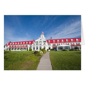 Quebec, Canada. Historic Hotel Tadoussac, Card