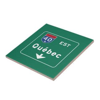 Quebec, Canada Road Sign Tile