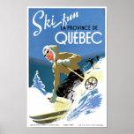 Quebec Canada Vintage Travel Poster Restored