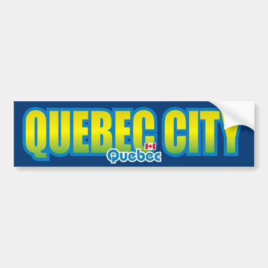 Quebec City Bumper Bumper Sticker