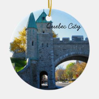 Quebec City Canada Castle Gates Christmas Ornament
