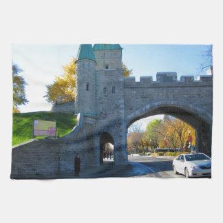 Quebec City Canada Castle Gates Tea Towel