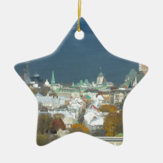 Quebec City Canada Waterfront Ceramic Star Decoration