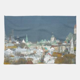 Quebec City Canada Waterfront Tea Towel