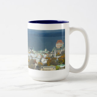 Quebec City Canada Waterfront Two-Tone Coffee Mug