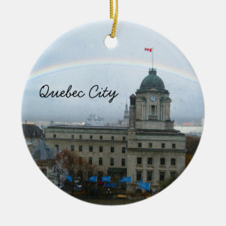 Quebec City Canda Waterfront Christmas Ornament