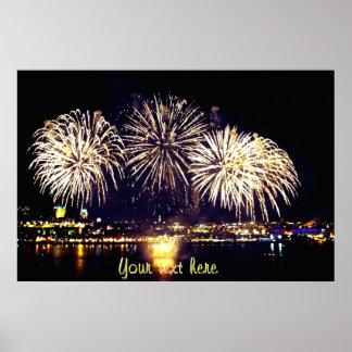 Quebec City Fireworks Poster