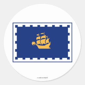 Quebec City Flag Classic Round Sticker