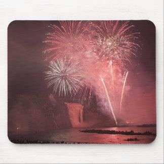 Quebec City, Quebec, Canada. Fireworks at Parc 2 Mouse Mat