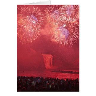 Quebec City, Quebec, Canada. Fireworks at Parc Card