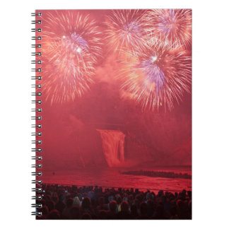Quebec City, Quebec, Canada. Fireworks at Parc Notebooks