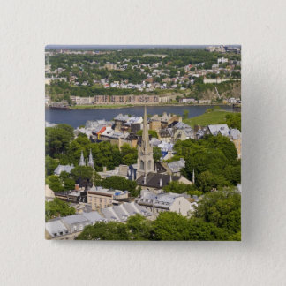 Quebec City, Quebec, Canada. Looking down on the 15 Cm Square Badge
