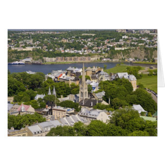 Quebec City, Quebec, Canada. Looking down on the Card
