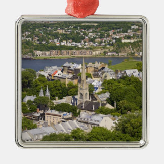 Quebec City, Quebec, Canada. Looking down on the Silver-Colored Square Decoration