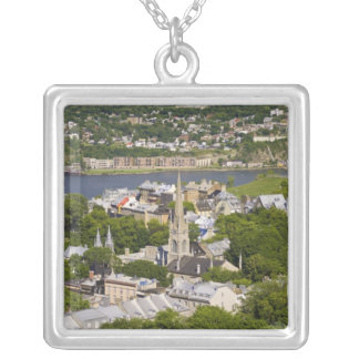 Quebec City, Quebec, Canada. Looking down on the Silver Plated Necklace