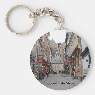 Quebec City Street Key Ring