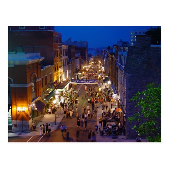 Quebec City Summer Festival Saint-Jean Postcard