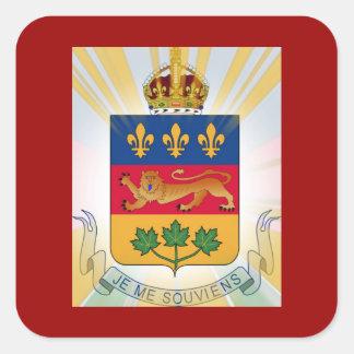 Quebec Coat of Arms Square Sticker