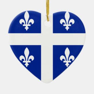 Quebec Flag Heart Ceramic Heart Decoration