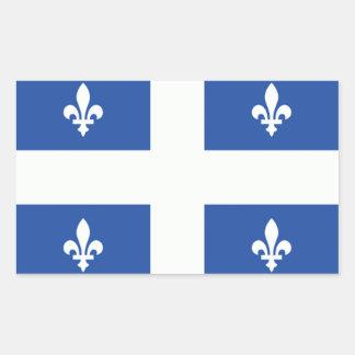 Quebec Flag Rectangular Sticker