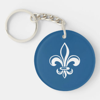 Quebec France flower of French lily - YOUR COLORS Key Ring