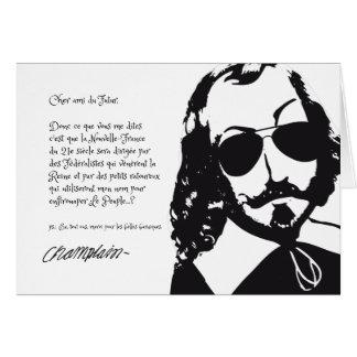 Quebec Hipster Samuel Champlain 1608 COLOR CHOICES Card
