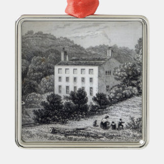 Quebec House Silver-Colored Square Decoration