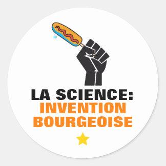 Quebec humour socialist anticommunist satire classic round sticker