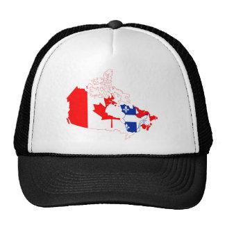 Quebec in Canada flag, map Cap
