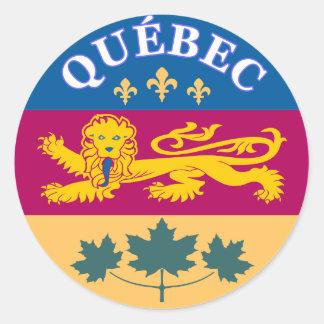 Quebec,La Belle Province Classic Round Sticker