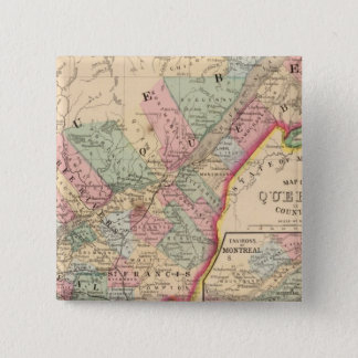 Quebec Map by Mitchell 15 Cm Square Badge