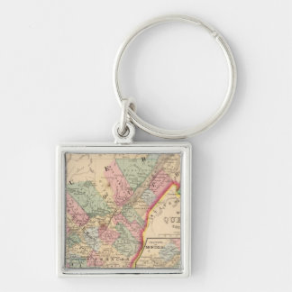 Quebec Map by Mitchell Key Ring