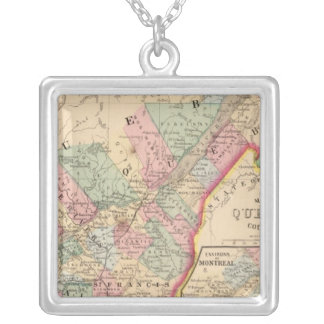 Quebec Map by Mitchell Silver Plated Necklace