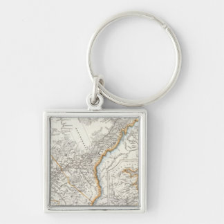 Quebec, Nova Scotia, New Brunswick Silver-Colored Square Key Ring