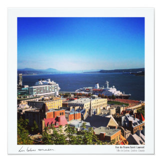 Quebec postcard - the St. Lawrence 13 Cm X 13 Cm Square Invitation Card