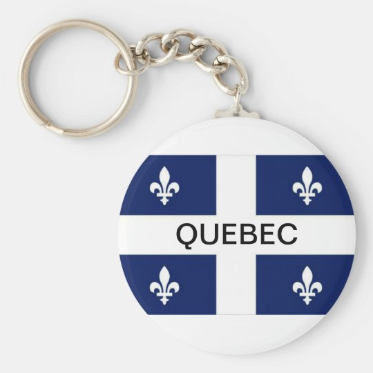Quebec Province Flag Keychain
