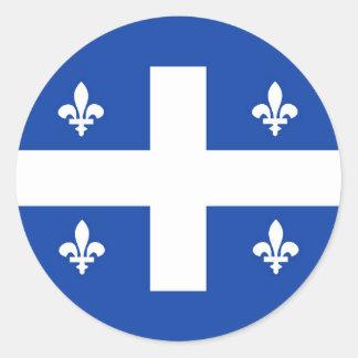 quebec region canada country flag classic round sticker