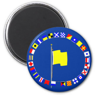 Quebec Request Pratique Nautical Signal Flag Magnet