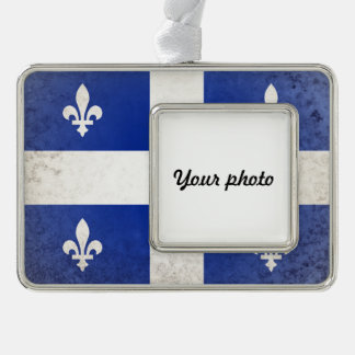 Quebec Silver Plated Framed Ornament
