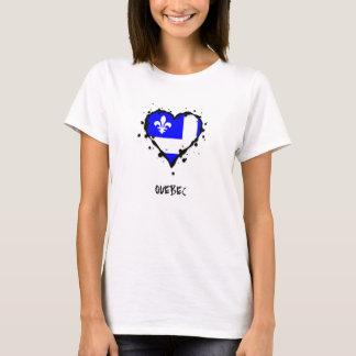 Quebec Splatter Heart T-Shirt