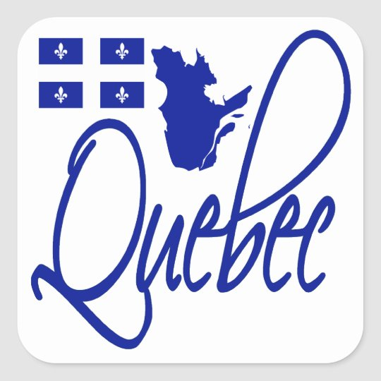 Quebec Square Sticker