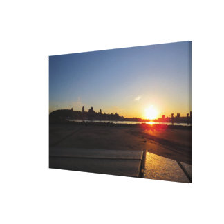 Quebec Sunset Canvas Print