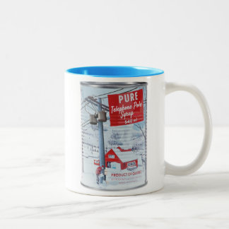 Quebec Telephone Pole Syrup Two-Tone Coffee Mug