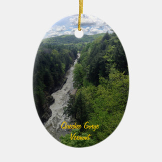 Quechee Gorge, Vermont Christmas Ornament