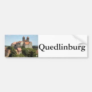 Quedlinburg Castle Bumper Sticker