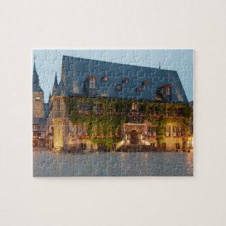 Quedlinburg night photo jigsaw puzzle