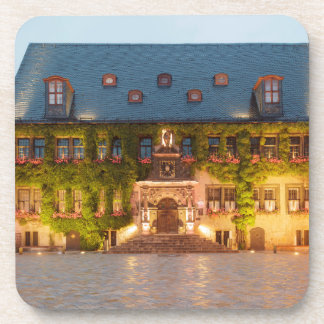 Quedlinburg Town Hall at night photo Coaster