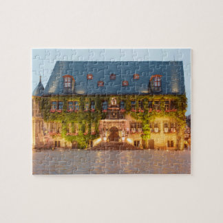Quedlinburg Town Hall at night photo Jigsaw Puzzle
